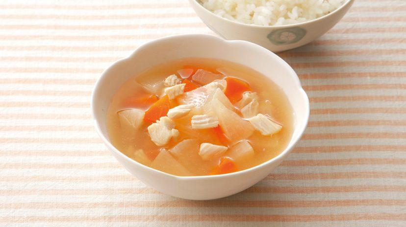 鶏肉と根菜のみそ汁 離乳食レシピ(管理栄養士監修) パル ...